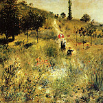 Path Winding through the High Grass - 1875, Pierre-Auguste Renoir