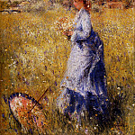 Girl Gathering Flowers – 1872, Pierre-Auguste Renoir
