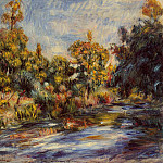 Landscape with River – 1917, Pierre-Auguste Renoir