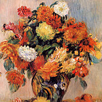 Vase of Flowers - 1884, Pierre-Auguste Renoir