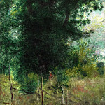 A Fence in the Forest Забор в лесу 1878, Pierre-Auguste Renoir
