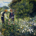 Picking Flowers - 1875, Pierre-Auguste Renoir