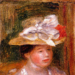 Pierre-Auguste Renoir - Head of a Woman - 1913