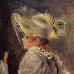 Woman in a White Hat - 1890, Pierre-Auguste Renoir