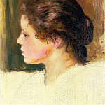 Womans Head - 1887, Pierre-Auguste Renoir
