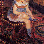 Georgette Charpentier Seated - 1876, Pierre-Auguste Renoir