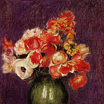 Пьер Огюст Ренуар - Flowers in a Vase - 1901