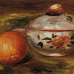 Still Life with Orange and Sugar Bowl, Pierre-Auguste Renoir
