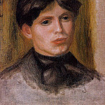 Womans Head, Pierre-Auguste Renoir