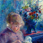 Young Woman Sewing - 1879, Pierre-Auguste Renoir