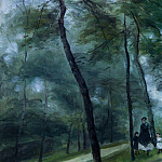 Пьер Огюст Ренуар - A Walk in the Woods (also known as Madame Lecoeur and Her Children) - 1875