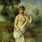 Bather - 1887, Pierre-Auguste Renoir