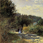 Пьер Огюст Ренуар - A Road in Louveciennes - 1870
