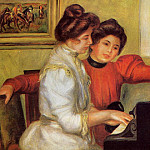 Пьер Огюст Ренуар - Yvonne and Christine Lerolle at the Piano - 1897
