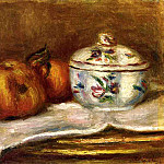 Pierre-Auguste Renoir - Sugar Bowl, Apple and Orange