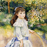 Girl with a Hoop - 1885, Pierre-Auguste Renoir