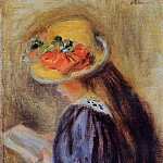 The Little Reader - 1890, Pierre-Auguste Renoir
