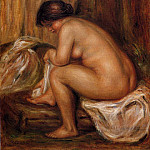 After Bathing После купания 1900, Pierre-Auguste Renoir