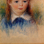 Portrait of a Little Girl - 1880, Pierre-Auguste Renoir