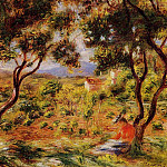 The Vineyards of Cagnes - 1908, Pierre-Auguste Renoir