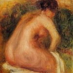 Seated Female Nude - 1910, Pierre-Auguste Renoir