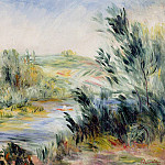 The Banks of a River, Rower in a Boat, Pierre-Auguste Renoir