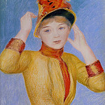 Pierre-Auguste Renoir - Bust of a Woman (also known as Yellow Dress) - 1883