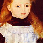 Little Girl in a White Apron - 1884, Pierre-Auguste Renoir