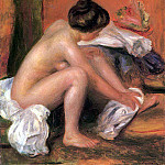 Bather Drying Her Feet - 1907, Pierre-Auguste Renoir