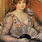 Woman with a Fan - 1906, Pierre-Auguste Renoir