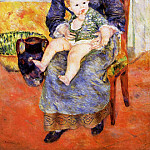 Mother and Child - 1881, Pierre-Auguste Renoir