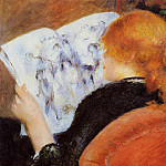 Young Woman Reading an Illustrated Journal - 1880, Pierre-Auguste Renoir