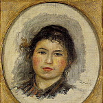 Head of a Young Woman - ок 1901 -1902, Pierre-Auguste Renoir
