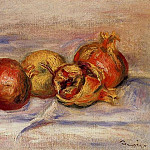 Three Pomegranates and Two Apples, Pierre-Auguste Renoir