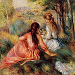 Picking Flowers - 1890, Pierre-Auguste Renoir