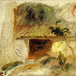 Pierre-Auguste Renoir - Small House, Buttercups and Diverse Flowers (study) - 1910