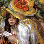 Two Young Girls Reading - 1890 - 1891, Pierre-Auguste Renoir
