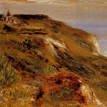 The Varangeville Church and the Cliffs - 1880, Pierre-Auguste Renoir