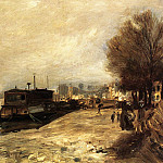 Pierre-Auguste Renoir - Laundry Boat by the Banks of the Seine, near Paris - 1872 - 1873