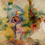 Пьер Огюст Ренуар - Two Women in a Garden - 1906