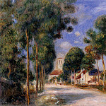 Entering the Village of Essoyes - 1901, Pierre-Auguste Renoir