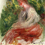 Pierre-Auguste Renoir - Young Woman, Seated