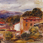 House and Trees with Foothills - 1904, Pierre-Auguste Renoir