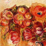Study of Flowers – Anemones and Tulips, Pierre-Auguste Renoir