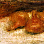 Still Life with Onions – 1917, Pierre-Auguste Renoir