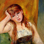 Young Blond Woman - 1886, Pierre-Auguste Renoir