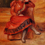 Spanish Dancer in a Red Dress - 1896, Pierre-Auguste Renoir