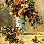 Пьер Огюст Ренуар - Roses and Jasmine in a Delft Vase - 1880 - 1881