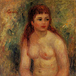 Seated Young Woman, Nude - 1910, Pierre-Auguste Renoir