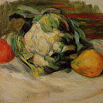 Cauliflower and Pomegranates - 1890, Pierre-Auguste Renoir